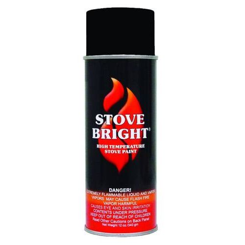 Stove Bright1200 Degree High Temp Paint - Metallic Black